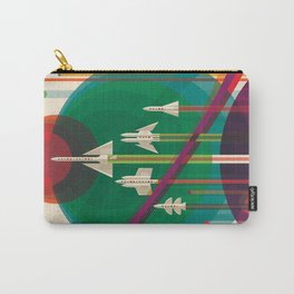 NASA Retro Space Travel Poster The Grand Tour Carry-All Pouch