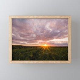 Spring Sunset Framed Mini Art Print