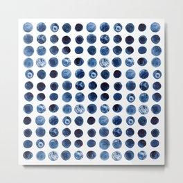 Blueberries | Watercolour Pattern Metal Print