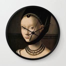 Petrus Christus - Portrait of a Young Woman Wall Clock