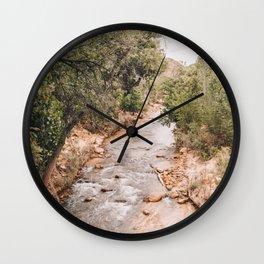 Water at Zion National Park - Utah Travel Photography - Art Print Poster Wall Clock