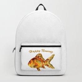 Elegant Happy Nowruz Goldfish Persian New Year Backpack
