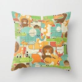 Bungle Jungle Throw Pillow