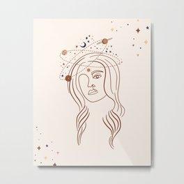 Celestial Goddess Metal Print