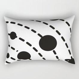 Outer Space Planet Solar System Design Rectangular Pillow