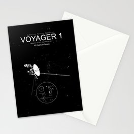 Voyager 1-Humanity's Farthest Spacecraft-40 Years in Space Stationery Cards