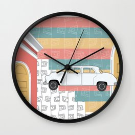 Whimsi-Collage: Road Trip Wall Clock