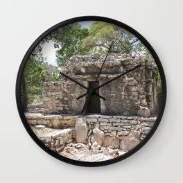 Xel-Ha Reserva Natural Mexico Mexican Archaeology Mayan Temple Maya Architecture Historical Jungle Wall Clock