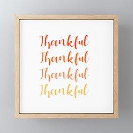 Thankful 2 Framed Mini Art Print