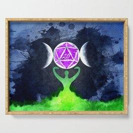 D20 Triple moon Druid Serving Tray