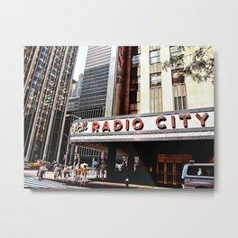 Radio City Metal Print
