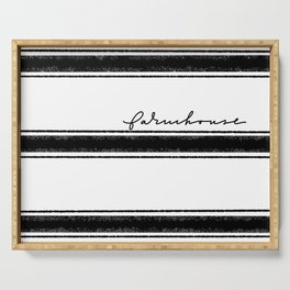 Farmhouse and stripes Serving Tray