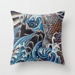 Koi by Sebastian Orth Throw Pillow