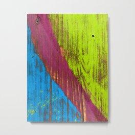 RGB bench worn paint Metal Print