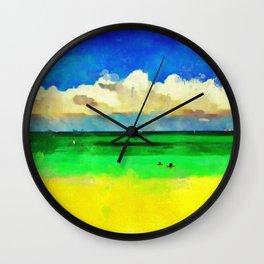 Floating in the Ocean Wall Clock