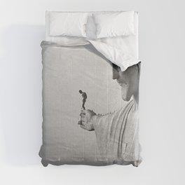 Christ the Redeemer, Rio de Janeiro, Brazil death defying dare devil black and white photography Comforters
