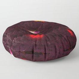 Large purple asteroid Floor Pillow