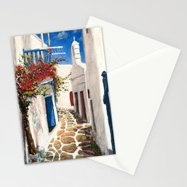 Mykonos Town, Greece Stationery Cards
