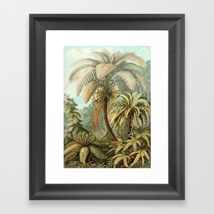 Vintage Tropical Palm Gerahmter Kunstdruck