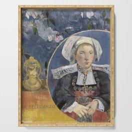 La Belle Angele by Paul Gauguin Serving Tray