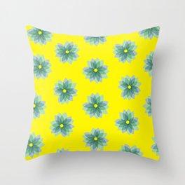Geo Spring Flowers 02 Throw Pillow