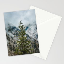 A Pine Tree Surrounded by Mountains in Austria. || Schneealpe, Österreich Stationery Cards