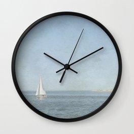 Sunday Sail  - Cape Cod Wall Clock
