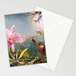 Nature's Fantasy : Cattyela Orchid and Three Brazilian Hummingbirds Stationery Cards