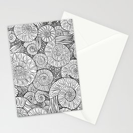 Ammonite Fossil Pattern Stationery Cards