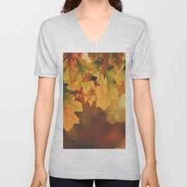 Autumn Leaf (Color) Unisex V-Neck