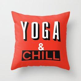 Yoga & Chill Throw Pillow