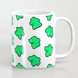 Green Meeple Mania Texture Coffee Mug