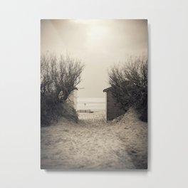Where the Sand meets the Sea Metal Print