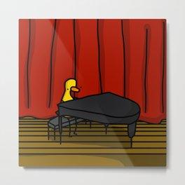 Ducky Pianist   Veronica Nagorny Metal Print