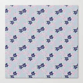 Lily pattern Canvas Print