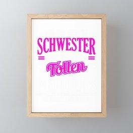 Stolze Schwester Eines Verdammt Tollen Bruders  Framed Mini Art Print