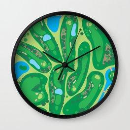 golf course par golf course green Wall Clock