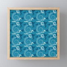 Festa - Blues Framed Mini Art Print