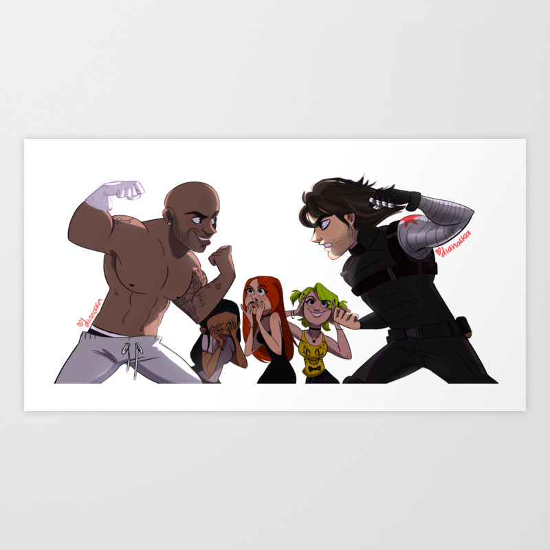 Winter Soldier Vs Summer Soldier Art Print by Dianoska PRN7353446