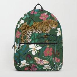 Leopard Jungle Green Backpack