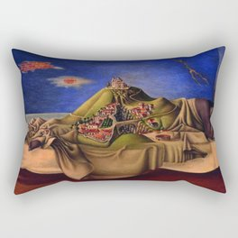 'The Dream of the Malinche' magical realism dream portrait painting by Antonio Ruiz Rectangular Pillow