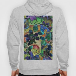 Abstract Floral Hippy Design Hoody