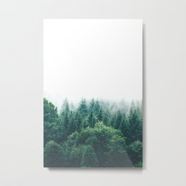 Cold Nordic Forest Sky Metal Print