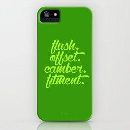 flush offset camber fitment v2 HQvector iPhone Case