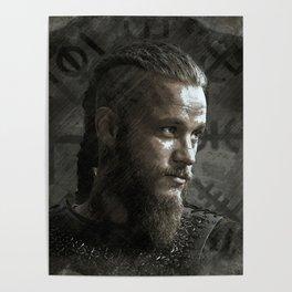Ragnar Lodbrok - Vikings Poster