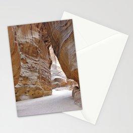Canyon Al Siq Path Leading to Petra, Jordan Stationery Cards