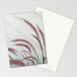 Purple Fountain Grass Stationery Cards