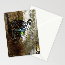 Round the Bend - Dirt-Bike Racing Stationery Cards