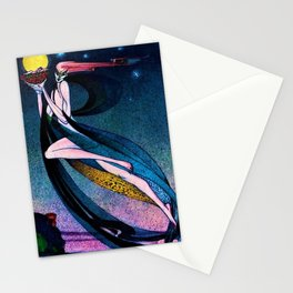 Classical Masterpiece 'In Powder and Crinoline' by Kay Nielsen Stationery Cards