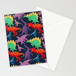 Dinosaur Domination - Dark Stationery Cards